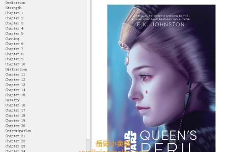 【配音频】Queen's Peril (Star Wars Disney Canon Novel) by E.K. Johnston(mobi,epub,pdf)