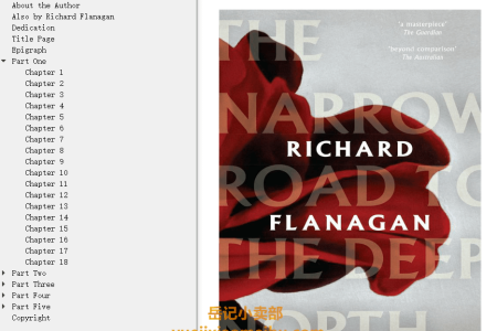 【配音频】The Narrow Road to the Deep North by Richard Flanagan(mobi,epub,pdf)