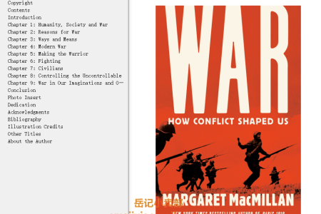 【配音频】War: How Conflict Shaped Us by Margaret MacMillan(mobi,epub,pdf)