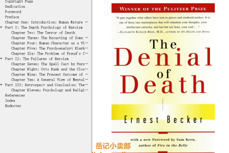 【配音频】The Denial of Death by Ernest Becker, Sam Keen(mobi,epub,pdf)