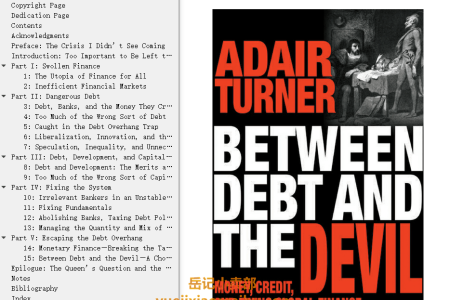 【电子书】Between Debt and the Devil: Money, Credit, and Fixing Global Finance by Adair Turner(mobi,epub,pdf)