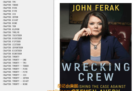 【配音频】Wrecking Crew: Demolishing The Case Against Steven Avery by John Ferak(mobi,epub,pdf)