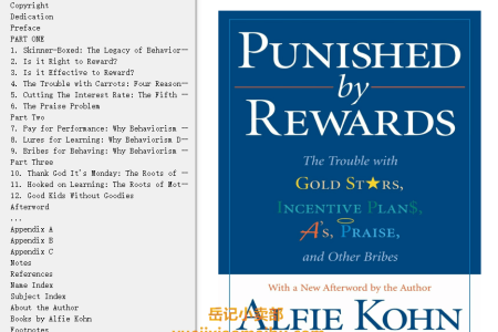 【配音频】Punished by Rewards: The Trouble with Gold Stars, Incentive Plans, A's, Praise and Other Bribes by Alfie Kohn(mobi,epub,pdf)