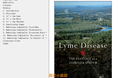 【电子书】Lyme Disease: The Ecology of a Complex System by Richard Ostfeld(mobi,epub,pdf)