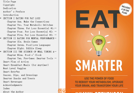 【配音频】Eat Smarter: Use the Power of Food to Reboot Your Metabolism, Upgrade Your Brain, and Transform Your Life by Shawn Stevenson(mobi,epub,pdf)