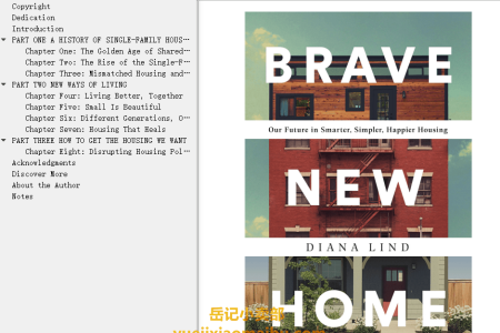 【配音频】Brave New Home: Our Future in Smarter, Simpler, Happier Housing by Diana Lind(mobi,epub,pdf)