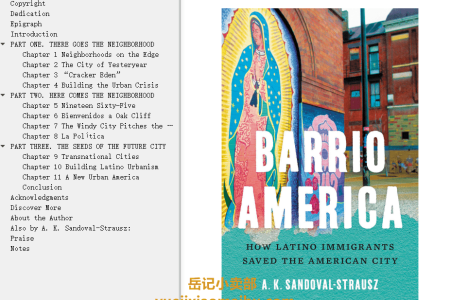 【电子书】Barrio America: How Latino Immigrants Saved the American City by A.K. Sandoval-Strausz(mobi,epub,pdf)