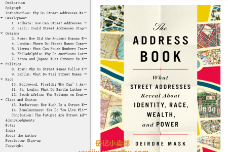 【配音频】The Address Book: What Street Addresses Reveal About Identity, Race, Wealth, and Power by Deirdre Mask(mobi,epub,pdf)