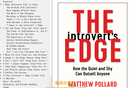 【配音频】The Introvert's Edge: How the Quiet and Shy Can Outsell Anyone by Matthew Owen Pollard(mobi,epub,pdf)