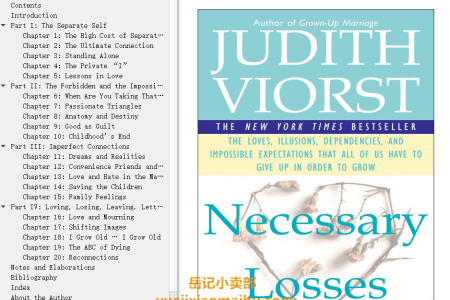 【配音频】Necessary Losses: The Loves Illusions Dependencies and Impossible Expectations That All of us Have by Judith Viorst(mobi,epub,pdf)