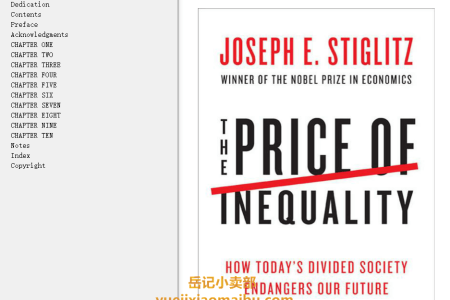 【配音频】The Price of Inequality: How Today's Divided Society Endangers Our Future by Joseph E. Stiglitz(mobi,epub,pdf)