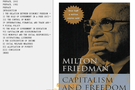 【配音频】Capitalism and Freedom by Milton Friedman(mobi,epub,pdf)