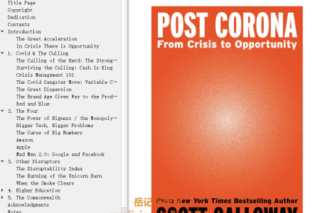 【配音频】Post Corona: From Crisis to Opportunity by Scott Galloway(mobi,epub,pdf)