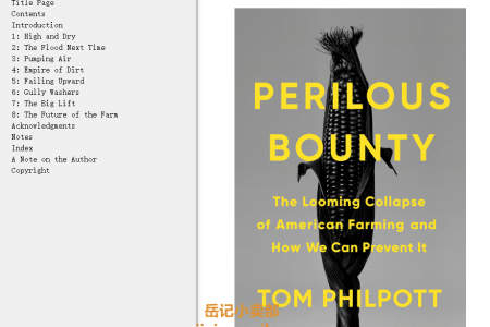 【配音频】Perilous Bounty: The Looming Collapse of American Farming and How We Can Prevent It by Tom Philpott(mobi,epub,pdf)