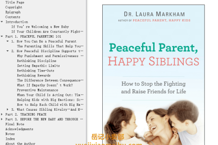 【配音频】Peaceful Parent, Happy Siblings: How to Stop the Fighting and Raise Friends for Life by Laura Markham(mobi,epub,pdf)