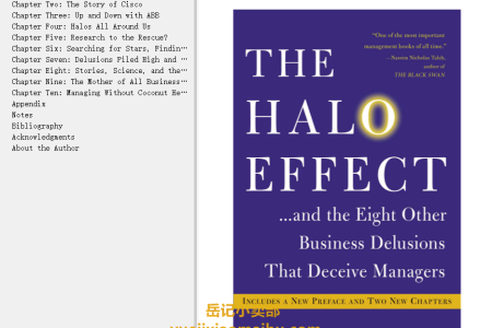 【配音频】The Halo Effect: ... and the Eight Other Business Delusions That Deceive Managers by Philip M. Rosenzweig(mobi,epub,pdf)
