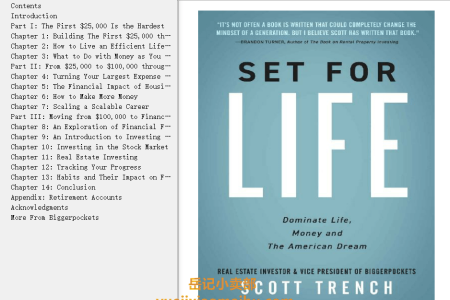 【配音频】Set for Life: Dominate Life, Money, and the American Dream by Scott Trench(mobi,epub,pdf)