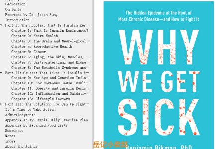 【配音频】Why We Get Sick: The Hidden Epidemic at the Root of Most Chronic Disease—and How to Fight It by Benjamin Bikman(mobi,epub,pdf)