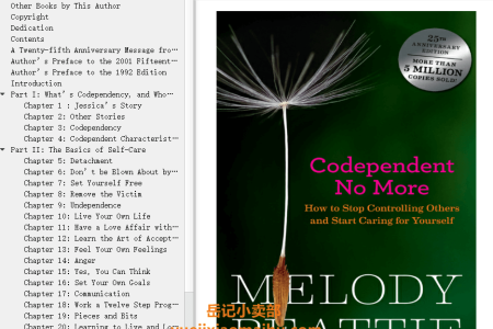 【配音频】Codependent No More: How to Stop Controlling Others and Start Caring for Yourself by Melody Beattie(mobi,epub,pdf)