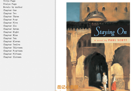 【配音频】Staying On (The Raj Quartet #5) by Paul Scott(mobi,epub,pdf)