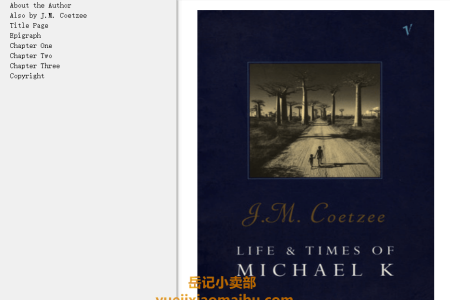 【配音频】Life and Times of Michael K by J.M. Coetzee(mobi,epub,pdf)