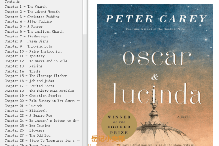 【配音频】Oscar and Lucinda by Peter Carey(mobi,epub,pdf)