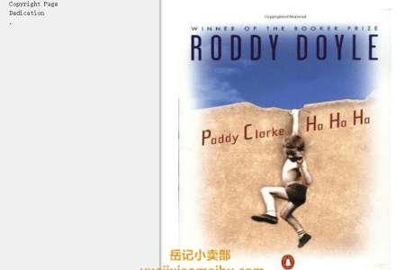 【配音频】Paddy Clarke Ha Ha Ha by Roddy Doyle(mobi,epub,pdf)