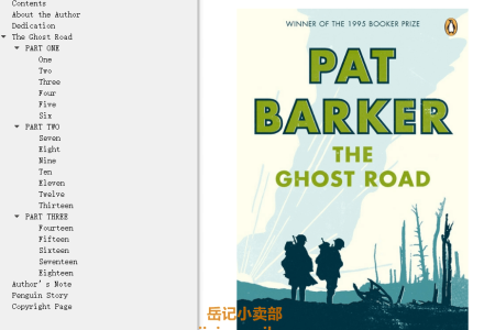 【配音频】The Ghost Road (Regeneration #3) by Pat Barker(mobi,epub,pdf)