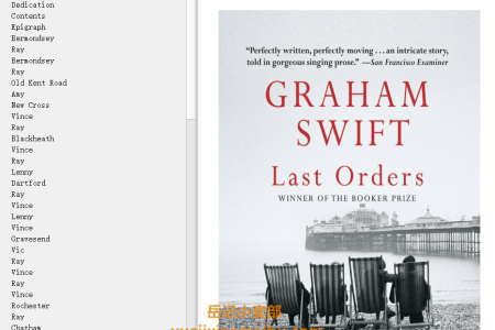 【配音频】Last Orders by Graham Swift(mobi,epub,pdf)