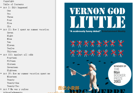 【配音频】Vernon God Little by D.B.C. Pierre(mobi,epub,pdf)