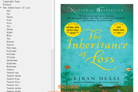 【配音频】The Inheritance of Loss by Kiran Desai(mobi,epub,pdf)