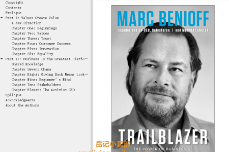 【配音频】Trailblazer: The Power of Business as the Greatest Platform for Change by Marc Benioff, Monica Langley(mobi,epub,pdf)