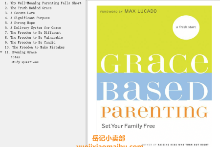 【配音频】Grace-Based Parenting: Set Your Family Tree by Tim Kimmel(mobi,epub,pdf)
