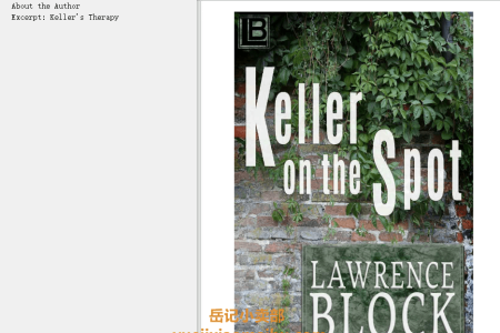 【电子书】Keller on the Spot (John Keller) by Lawrence Block(mobi,epub,pdf)