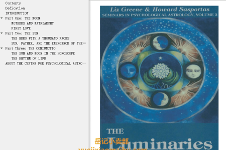 【电子书】The Luminaries Vol 3: The Psychology of the Sun and Moon in the Horoscope by Liz Greene, Howard Sasportas(mobi,epub,pdf)