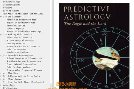 【电子书】Predictive Astrology: The Eagle and the Lark by Bernadette Brady(mobi,epub,pdf)
