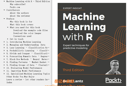 【电子书】Machine Learning with R 3rd Edition: Expert techniques for predictive modeling by Brett Lantz(mobi,epub,pdf)