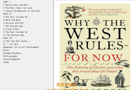 【配音频】Why the West Rules—for Now: The Patterns of History, and What They Reveal About the Future by Ian Morris(mobi,epub,pdf)