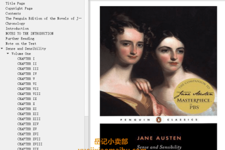 【配音频】Sense and Sensibility by Jane Austen(mobi,epub,pdf)