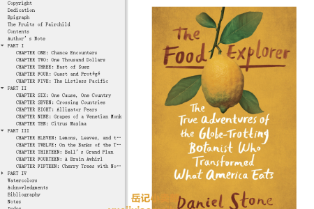 【配音频】The Food Explorer: The True Adventures of the Globe-Trotting Botanist Who Transformed What America Eats by Daniel Stone(mobi,epub,pdf)