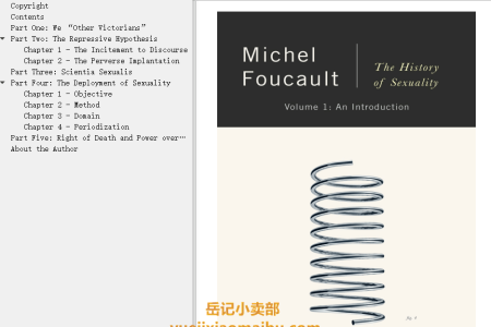 【配音频】The History of Sexuality Vol 1: An Introduction (The History of Sexuality #1) by Michel Foucault(mobi,epub,pdf)