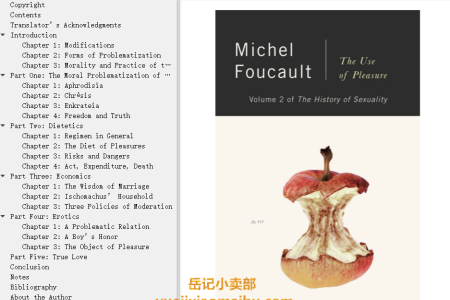 【电子书】The History of Sexuality Vol 2: The Use of Pleasure (The History of Sexuality #2) by Michel Foucault(mobi,epub,pdf)