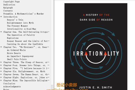 【配音频】Irrationality: A History of the Dark Side of Reason by Justin E. H. Smith(mobi,epub,pdf)