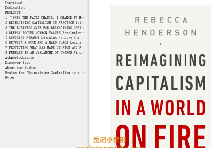 【配音频】Reimagining Capitalism in a World on Fire by Rebecca Henderson(mobi,epub,pdf)
