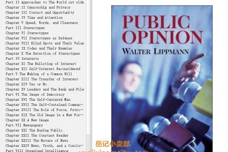 【配音频】Public Opinion: The Original 1922 Edition by Walter Lippmann(mobi,epub,pdf)