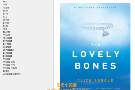 【配音频】The Lovely Bones by Alice Sebold(mobi,epub,pdf)