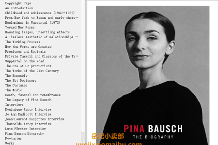 【电子书】Pina Bausch: The Biography by Marion Meyer, Penny Black(mobi,epub,pdf)