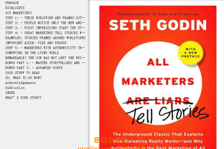 【配音频】All Marketers Are Liars: The Power of Telling Authentic Stories in a Low-Trust World by Seth Godin(mobi,epub,pdf)