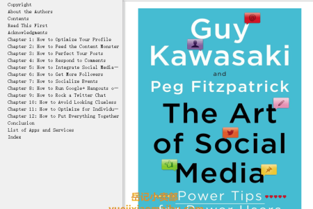 【配音频】The Art of Social Media: Power Tips for Power Users by Guy Kawasaki , Peg Fitzpatrick(mobi,epub,pdf)