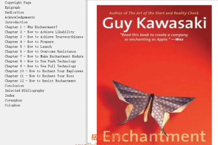 【配音频】Enchantment: The Art of Changing Hearts, Minds, and Actions by Guy Kawasaki(mobi,epub,pdf)
